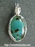 "Tumultuous ""Tealstone with Specks"" pendant!"