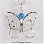 Howlite Butterfly Bead Pendant