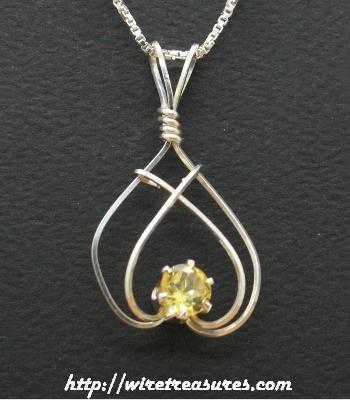 November Birthstone Pendant with Topaz CZ